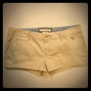 Abercrombie & Fitch Stretch Khaki Tan Shorts Sz- 4